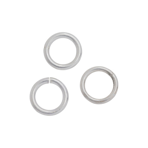 Jump Rings. Sterling Silver 18.0 Gauge 7.1mm Width / Length / Height, Smooth Open Jump Ring. Quantity Per Pack: 50 Pieces.