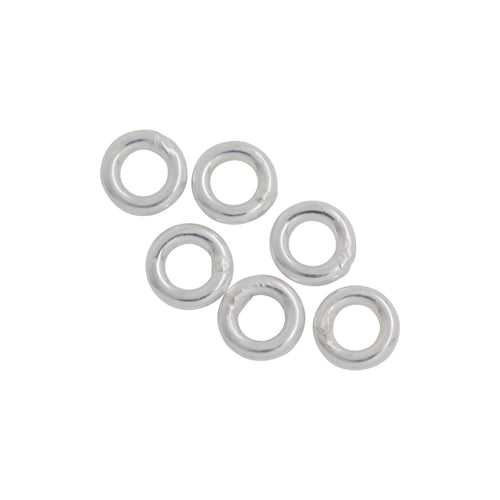 Jump Rings. Sterling Silver 22.0 Gauge 3.0mm Width / Length / Height, Smooth Close Jump Ring. Quantity Per Pack: 100 Pieces.
