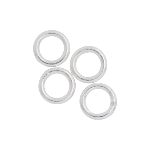 Jump Rings. Sterling Silver 22.0 Gauge 4.0mm Width / Length / Height, Smooth Close Jump Ring. Quantity Per Pack: 100 Pieces.