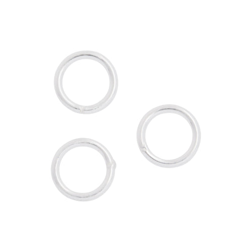Jump Rings. Sterling Silver 20.0 Gauge 5.0mm Width / Length / Height, Smooth Close Jump Ring. Quantity Per Pack: 50 Pieces.