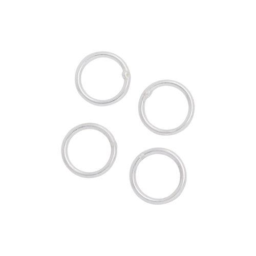 Jump Rings. Sterling Silver 20.0 Gauge 6.0mm Width / Length / Height, Smooth Close Jump Ring. Quantity Per Pack: 50 Pieces.