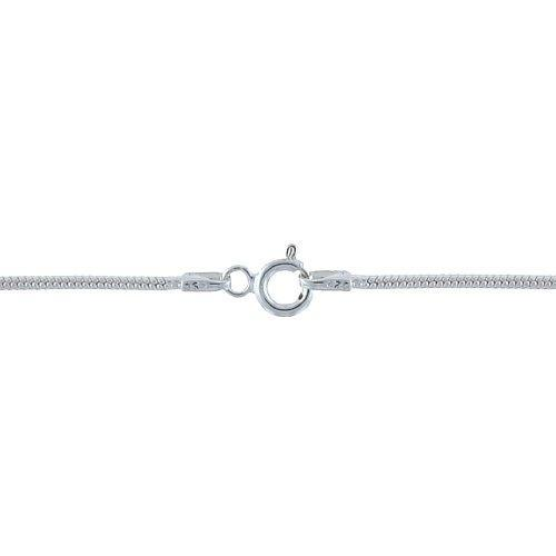 Chain by Clasp. Sterling Silver 1.9mm Width / Length, 20 Inch Round Regular Snake Chain with 6.0mm Width / Length by 1.4mm Thick, Smooth Spring Ring Clasp. Quantity Per Pack: 1 Piece.