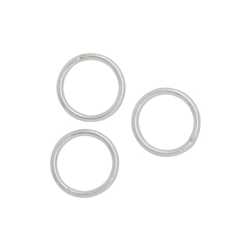 Jump Rings. Sterling Silver 20.0 Gauge 7.0mm Width / Length / Height, Smooth Close Jump Ring. Quantity Per Pack: 20 Pieces.