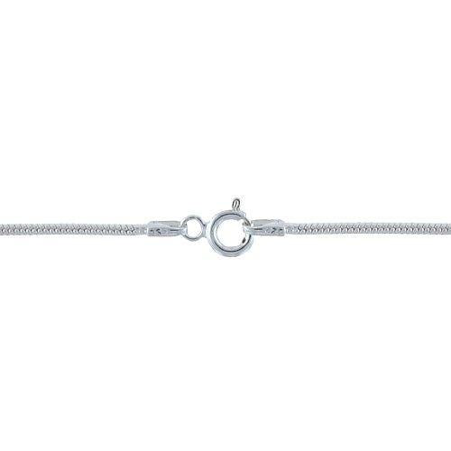 Chain by Clasp. Sterling Silver 1.9mm Width / Length, 22 Inch Round Regular Snake Chain with 6.0mm Width / Length by 1.4mm Thick, Smooth Spring Ring Clasp. Quantity Per Pack: 1 Piece.