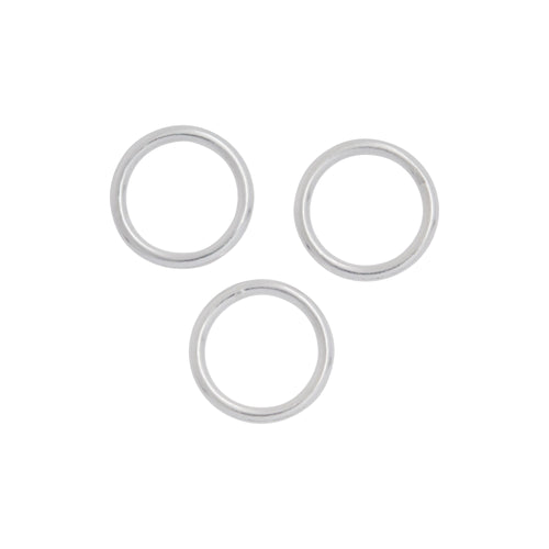 Jump Rings. Sterling Silver 18.0 Gauge 10.0mm Width / Length / Height, Smooth Close Jump Ring. Quantity Per Pack: 10 Pieces.