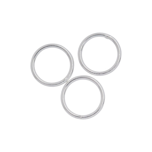 Jump Rings. Sterling Silver 18.0 Gauge 12.0mm Width / Length / Height, Smooth Close Jump Ring. Quantity Per Pack: 20 Pieces.