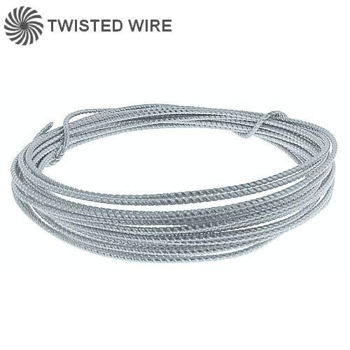 Wire. Sterling Silver 26.0 Gauge Soft Twisted Wire. Ounces sold per pack - 0.5 ounce.