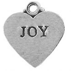 Charms. Sterling Silver, 17.0mm Width by 1.0mm Length by 18.3mm Height, Flat Heart with