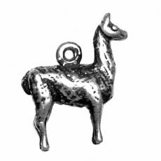 Charms. Sterling Silver, 16.4mm Width by 5.3mm Length by 18.7mm Height, Llama Charm. Quantity Per Pack: 1 Piece.
