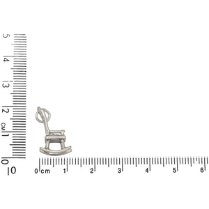 Sterling Silver, 9.8mm Width by 11.7mm Length by 18.4mm Height, Rocking Chair Charm. Quantity Per Pack: 1 Piece.