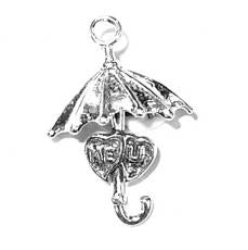 Charms. Sterling Silver, 16.7mm Width by 8.6mm Length by 24.4mm Height,