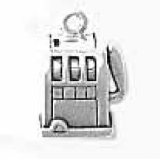 Charms. Sterling Silver, 10.9mm Width by 8.4mm Length by 14.8mm Height, Slot Machine Charm. Quantity Per Pack: 1 Piece.