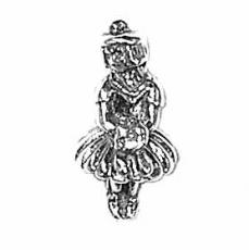 Charms. Sterling Silver, 8.1mm Width by 8.0mm Length by 16.8mm Height, Flower Girl Charm. Quantity Per Pack: 1 Piece.