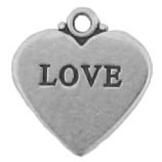 Charms. Sterling Silver, 17.1mm Width by 1.0mm Length by 18.2mm Height,