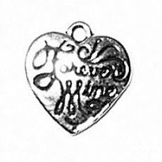Charms. Sterling Silver, 10.3mm Width by 1.7mm Length by 10.5mm Height,