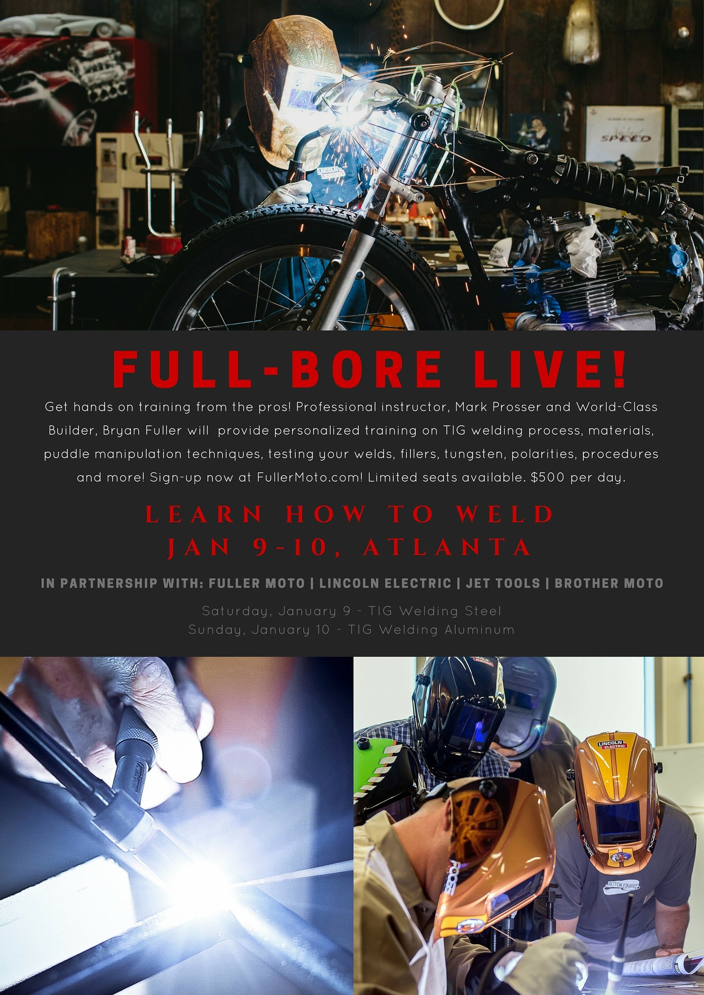 Learn to Weld | Full-Bore LIVE! with Professional Instructor, Mark Prosser and World-Class Builder, Bryan Fuller