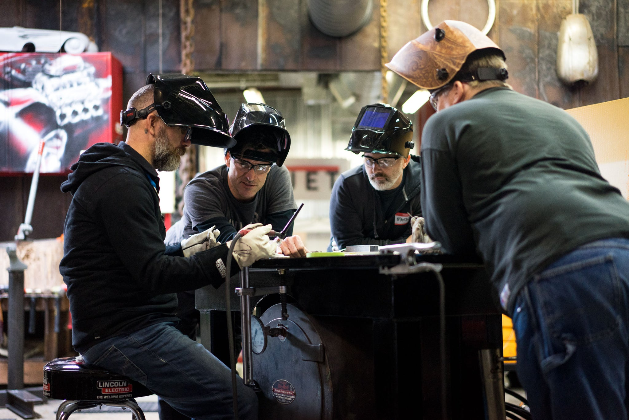 Fuller Moto | Full-Bore LIVE! Welding Seminar Attendees Learn to Weld and Share Stories