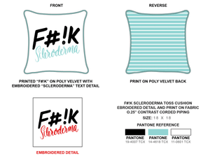 Duo Green Square Fashion Pillows | F#!K  Scleroderma
