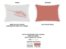 Load image into Gallery viewer, Tan Rectangular Fashion Pillows | F#!K  Scleroderma