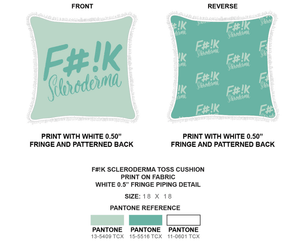 Green Square Fashion Pillows | F#!K  Scleroderma