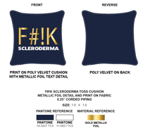 Load image into Gallery viewer, Navy Square Fashion Pillows | F#!K  Scleroderma