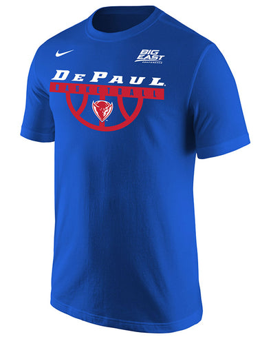 Big East Conference Depaul Men's Basketball Short Sleeve T-Shirt