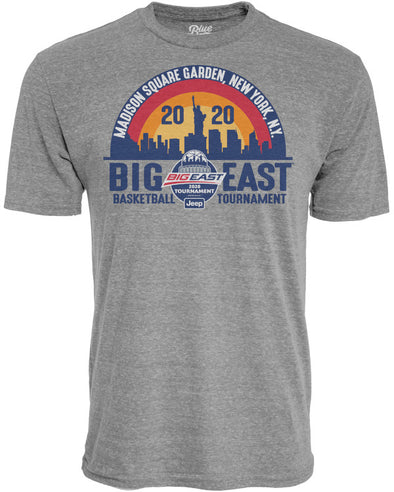 Big East Conference Tri-Blend Men's Basketball Tournament Basketball Short Sleeve T-Shirt