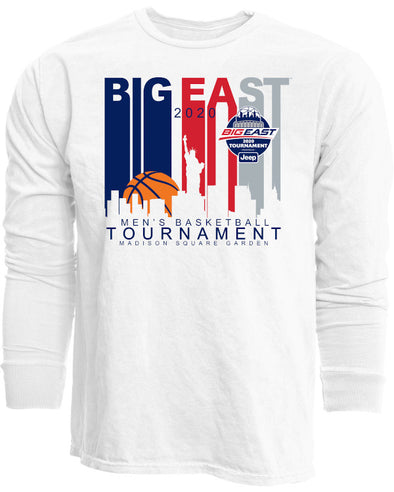 Big East Conference Ringspun Men's Basketball Tournament Basketball Long Sleeve T-Shirt