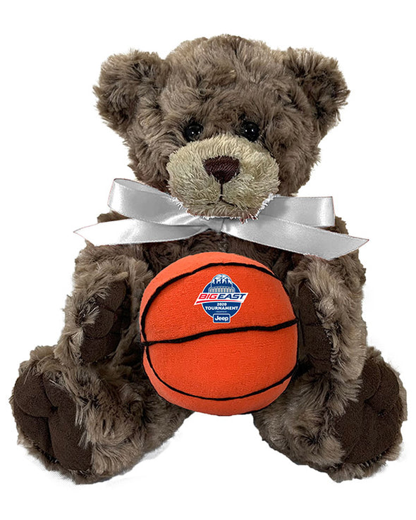 Big East Conference Bear Charlie Jr with Basketball Plush Toy