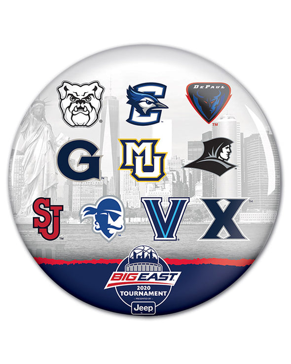 Big East Conference 2020 Men's Basketball Tournament Button Collection