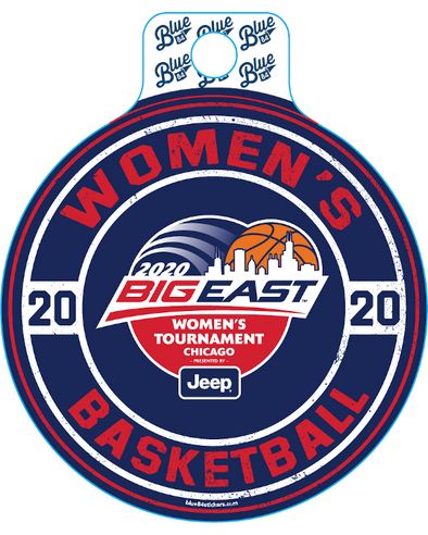 Big East Conference Blue 84 2020 Women's Basketball Tournament Decal 1