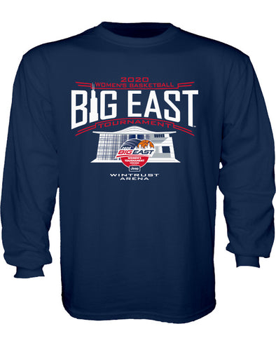 Big East Conference Blue 84 Youth Ossify Women's Basketball Tournament Statue T-Shirt
