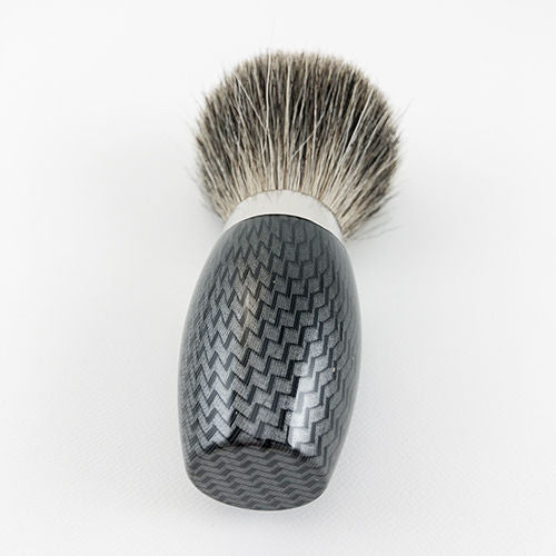 CARBONE (BLACK) SILVER TIP BRUSH B205 (badger hair)