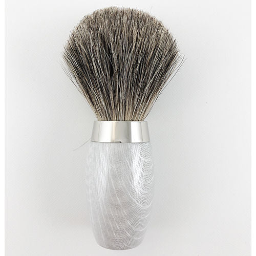 CARBONE(WHITE) SILVER TIP BRUSH B203 (badger hair)