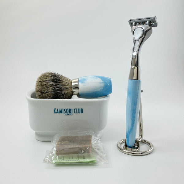 EARTH206 SHAVINGSET (4-razor lame)