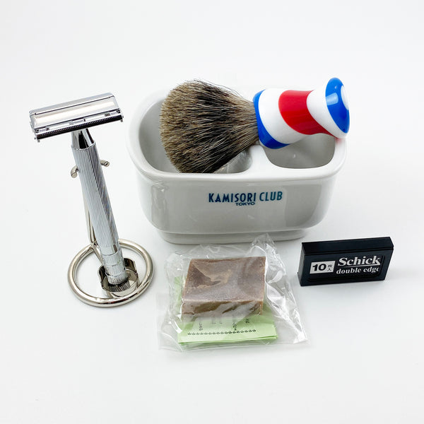 Un classico set da barba del 1903 (BARBER colour brush)