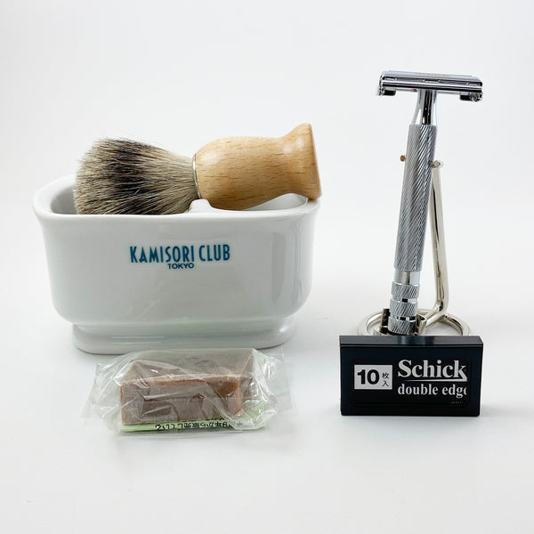 Classical shaving set (WOOD BRUSH LIGET) which is succeeded to from 1903 to enjoy time
