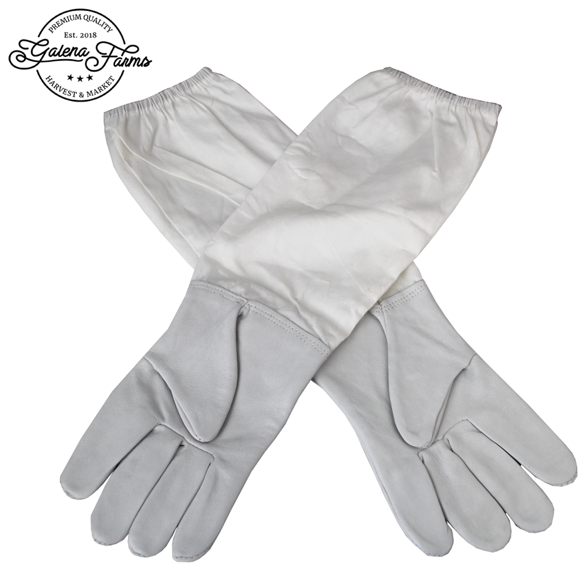 Galena Farms Gloves Are Made From Sheepskin Leather &  Go Down To The Elbow. They Are Cinched On The End To Keep Bees Out
