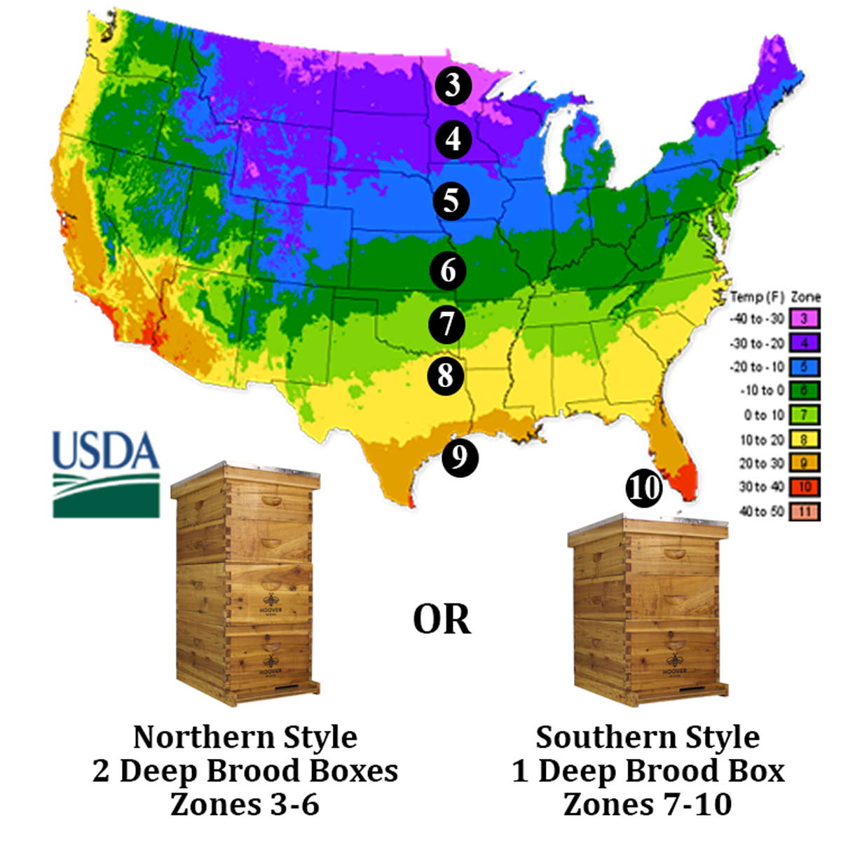 USDA Map Of The United States Showing The Different Growing Areas For Plants. Can Also Be Great To Decipher Which Hive To Get