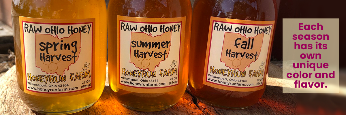 Each season has its own unique color and flavor of honey.