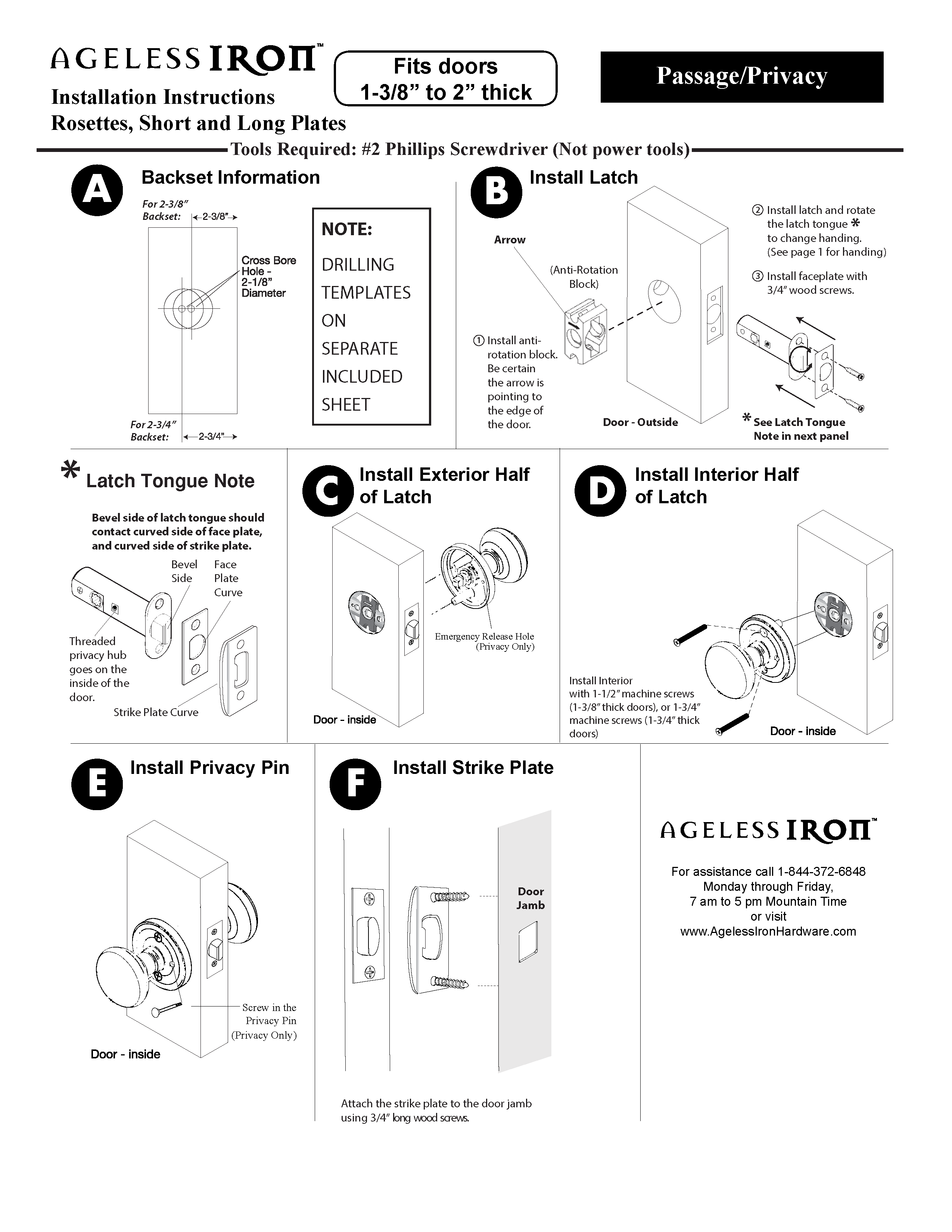 Passage and Privacy Instructions
