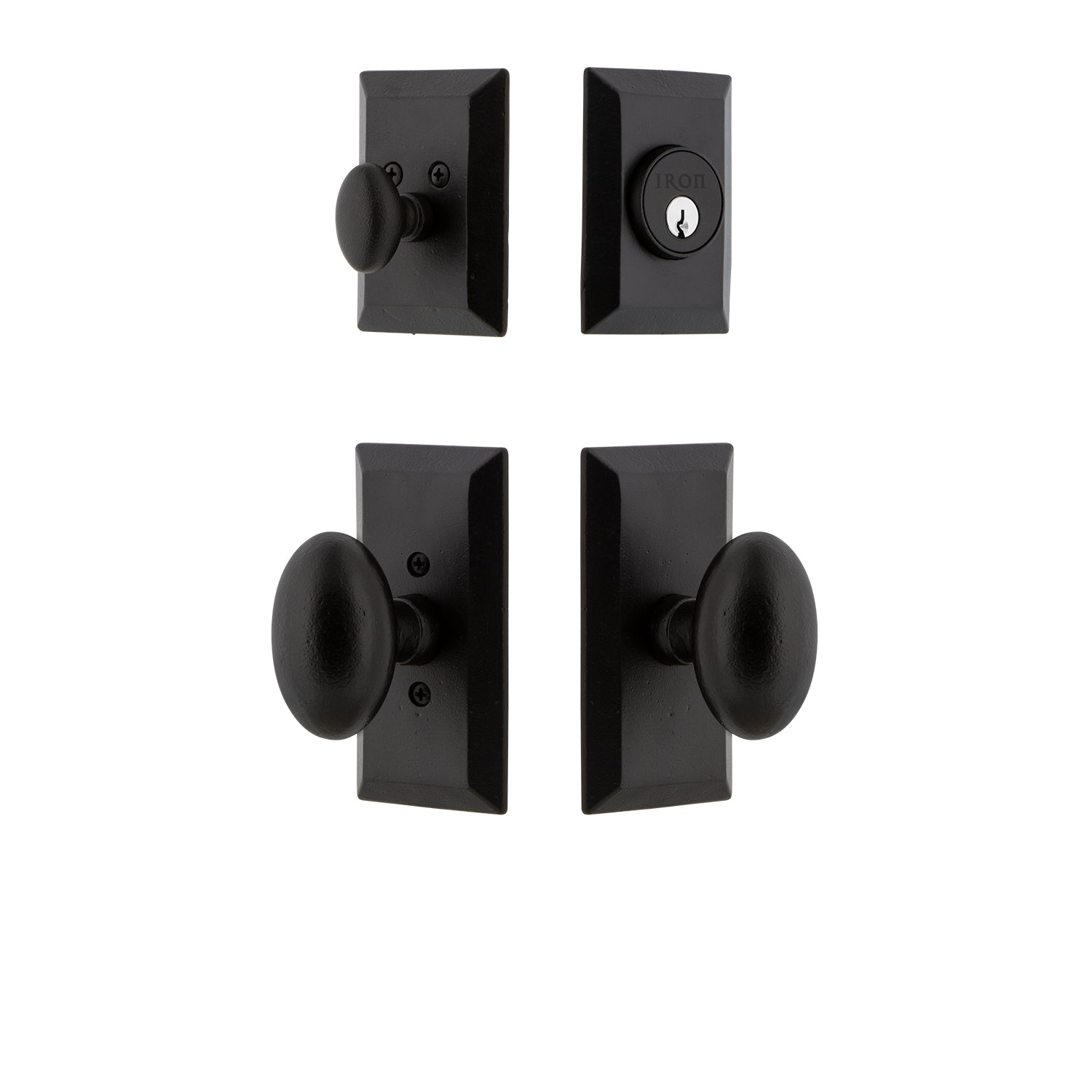 Vale Short Plate Entry Set with Aeg Knob