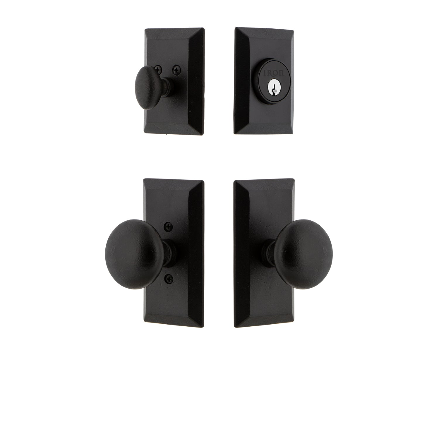 Vale Short Plate Entry Set with Keep Knob