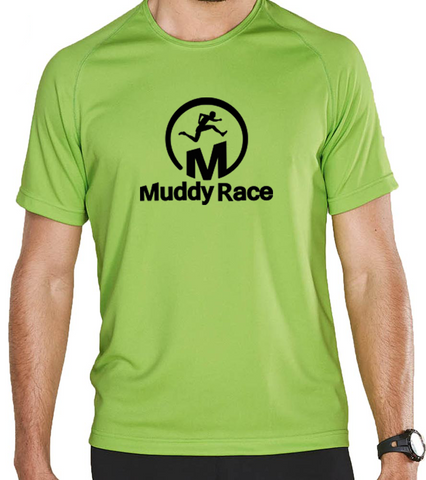 Muddy Race Technical T-Shirt Mens - Green/Black