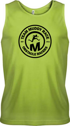Team Muddy Race Mens Vest - Green/Black