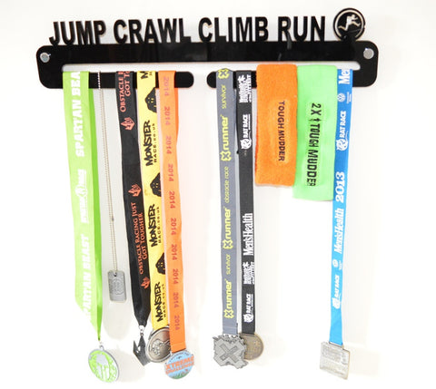 Jump Crawl Climb Run Medal Holder