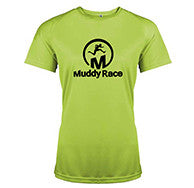 Muddy Race Tech Shirt Womens - Green/Black