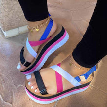 Load image into Gallery viewer, 2020 Hot Sale Flat Strap Summer Sandals Woman Shoes Mixed Colors Platform Dropship Shoes Women Sandals Sandalia Feminina