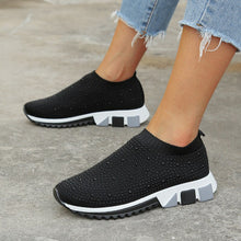 Load image into Gallery viewer, New Sneakers Women Shoes Light Breathable Casual Shoes Woman Fashion Height Increasing Ladies Socks Shoes Women Flats Size35-43