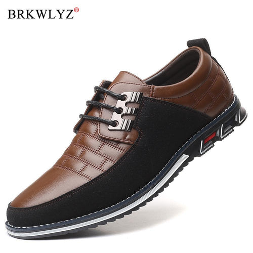 2020 New Big Size 38-48 Oxfords Leather Men Shoes Fashion Casual Slip On Formal Business Wedding Dress Shoes Men Drop Shipping